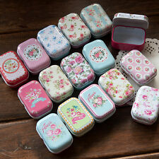 16pcs Empty Tinplate Tin Metal Container Small Storage Collectables