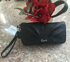 New Black Coach Leather Flap Wrislet F45981 MSRP: $118.00