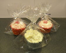 24 x Cup cake Cellophane Sweet Bags party Gift Bags