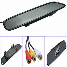 "4.3""Color TFT LCD Screen Mirror Monitor Car Reverse Rearview Backup Video Camera"