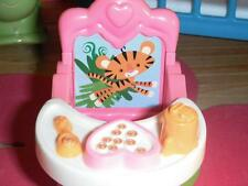 Fisher Price Loving Family Dollhouse Pink Booster Seat w/Removable Tray Tiger