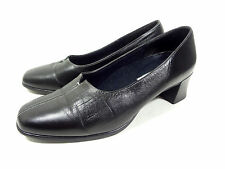 MUNRO AMERICAN LOAFERS MOCASSINS BLACK LEATHER WOMENS SHOES SIZE 8 M (MEDIUM)