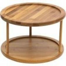 Table Turntable Dining Kitchen Spice Rack Bar Wood Jars Dining Table Center New