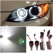 2x 40W H8 Cree LED 6000K White Halo Ring Angel Eye for BMW E90 E92 E60 E70 X5 X6