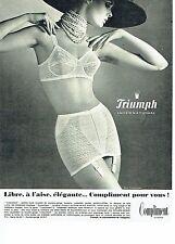 PUBLICITE ADVERTISING 126  1969   gaine Triumph  sous vetements  Compliment