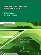 Interactive Citation Workbook for ALWD Citation Manual Brand New