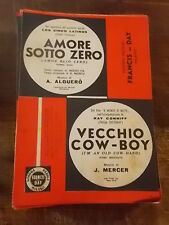 "SPARTITO LOS CINCO LATINOS ""AMORE SOTTO ZERO""+ "" RAY CONNIFF ""VECCHIO COW BOY"""