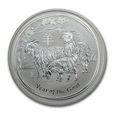 Lotto 4 monete argento stupende con Year of The Goat  Silver Proof in capsula