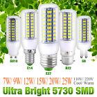Bright E27 B22 GU10 E14 G9 5730 SMD LED Corn Bulb Lamp Light White AC 110V/220V