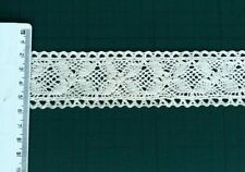 6 metres Vintage Style Cotton Crochet Scallop lace edge trim 4cm cream / ivory