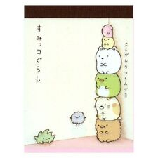 San-x Sumikko Gurashi animal in corner mini memo pad : D