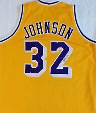 Magic Johnson Signed Autographed Yellow Jersey JSA Authenticated.