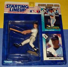 1993 ROBIN VENTURA #23 Chicago White Sox Rookie -low s/h Starting Lineup 2 cards