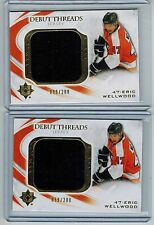 (2) 2010-11 ULTIMATE ERIC WELLWOOD ROOKIE JUMBO JERSEY LOT #/200 DEBUT THREADS