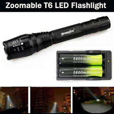 Zoomable Lampe torche 4000 LM 5 Modes CREE XML T6 LED +2x 18650 & chargeur