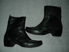 WOMENS HUSH PUPPIES ZERO G ANKLE BOOTS BLACK SIZE 10 M GREAT SHAPE
