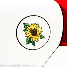 "CLR:GAS Sunflower D2 Stained Glass Style - Small Vinyl Decal ©YYDC(2.75""Wx2.8""H)"