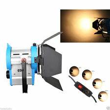 650W MOVIE Fresnel Tungsten Spotlight Illuminazione Studio Video Barndoor alla regolazione