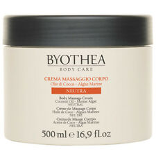 Neutral Massage Cream Body Byothea ® 500ml Crema Massaggio Neutra Coconut Oil