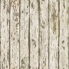 Neutral Faux Weathered Wood Brewster Easy Walls Wallpaper FFR13282 / KBE13282