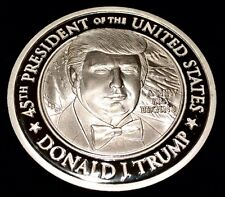 NUMBERED PROOFS - 999 SILVER 2017 TRUMP 2017 INAUGURATION COIN ONE Toz,