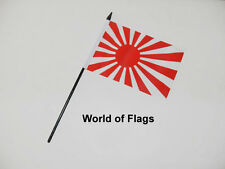 "JAPAN RISING SUN SMALL HAND WAVING FLAG 6"" x 4"" Japanese Table Desk Display"