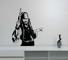 Jack Sparrow Wall Sticker Johnny Depp Art Pirates of the Caribbean Vinyl Decal 2