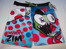 Nickelodeon Invader Zim Mens Blue Printed Board Shorts Size 34 New