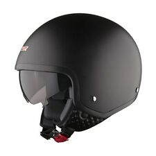 LS2 OF561.1 WAVE OPEN FACE SCOOTER HELMET WITH DROP DOWN SUN VISOR  PLAIN BLACK