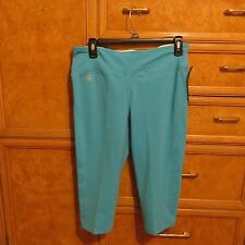 Women's Polo Ralph Lauren LRL Active turquoise white yoga pants XL NWT $64.50