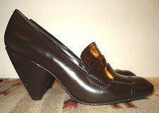 Women's Vince Camuto EDGY Brown Patent Leather Heels Sz. 41/11B EXCELLENT!
