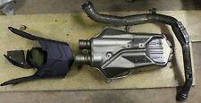 DUCATI 999R STOCK EXHAUST MUFFLER CAN W/ HEADER PIPE AND HEAT SHIELD