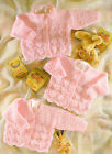 Knitting Pattern Scalloped Lacy Baby Cardigans Choice of Necklines DK 16