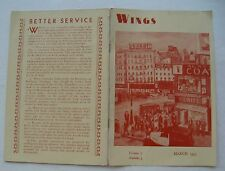 """Booklet For The Literary Guild  """"Wings""""  Newsletter March 1933 Vol 7  #3"""