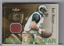 2001 FLEER KURT WARNER NFL GAME USED BALL RELIC ST. LOUIS RAMS 3245