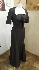 Carolina Herrera Silk Strapless FullLength Formal Dress Gown &Jacket medium 8 10