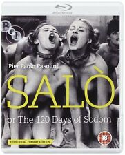 SALO OR THE 120 DAYS OF SODOM - Uncut Blu Ray/Dvd - x3 Discs -