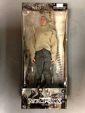 "2000 N2 TOYS THE MATRIX FILM REAL WORLD NEO 12"" ACTION FIGURE WITH CLOTH CLOTHES"