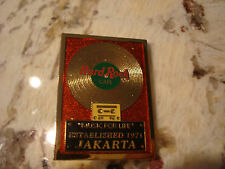 JAKARTA RECORD MUSIC FOR LIFE ESTABLISHED 1971 HARD ROCK CAFE PIN