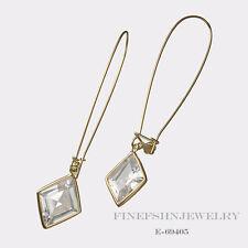 Authentic Lauren G Adams Gold Fish Hooks Dazzling Drops Rhombus Earrings E-69405