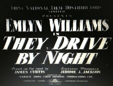 THEY DRIVE BY NIGHT, 1938, great EMLYN WILLIAMS British Film Noir: DVD-R:Region2