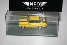 Neo Scale Models 1:87: 87492 Ford Escort Sport, gelb, OVP, Präsentationsbox