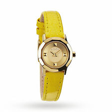 NIXON YELLOW MINI B STAINLESS STEEL LEATHER WATCH A338-1533 NEW!!!
