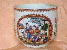CIE INDES CHINESE EXPORT POT DECOR SCENE DE PALAIS  ET FLEURS  18E S. QIANLONG