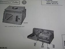 LEAR DYNAPORT WC-311-D WIRE RECORDER PHOTOFACT