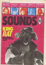 ROLAND RAT / AC/DC / FLESH FOR LULU / YES Sounds Nov 26 1983
