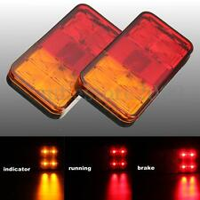 2x 12/24V Trailer Truck Lorry Caravan LED Rear Tail Brake Stop Turn Signal Light