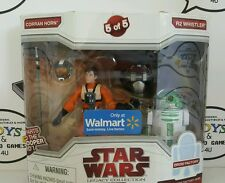 STAR WARS Legacy Collection Walmart Droid Factory Corran Horn & R2 Whistler