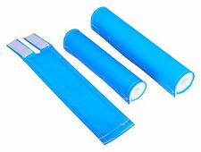 FLITE old school BMX padset foam racing pads BLANK BLANKS - FLUORESCENT BLUE