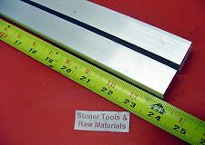 """2 Pieces 1"""" X 1"""" ALUMINUM 6061 SQUARE BAR 24"""" long T6511 Solid New Mill Stock"""